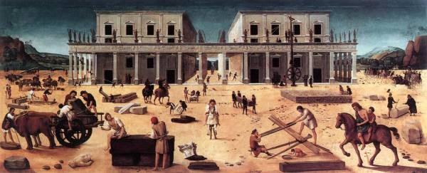 Piero di Cosimo The Building of a Palace 1515 20